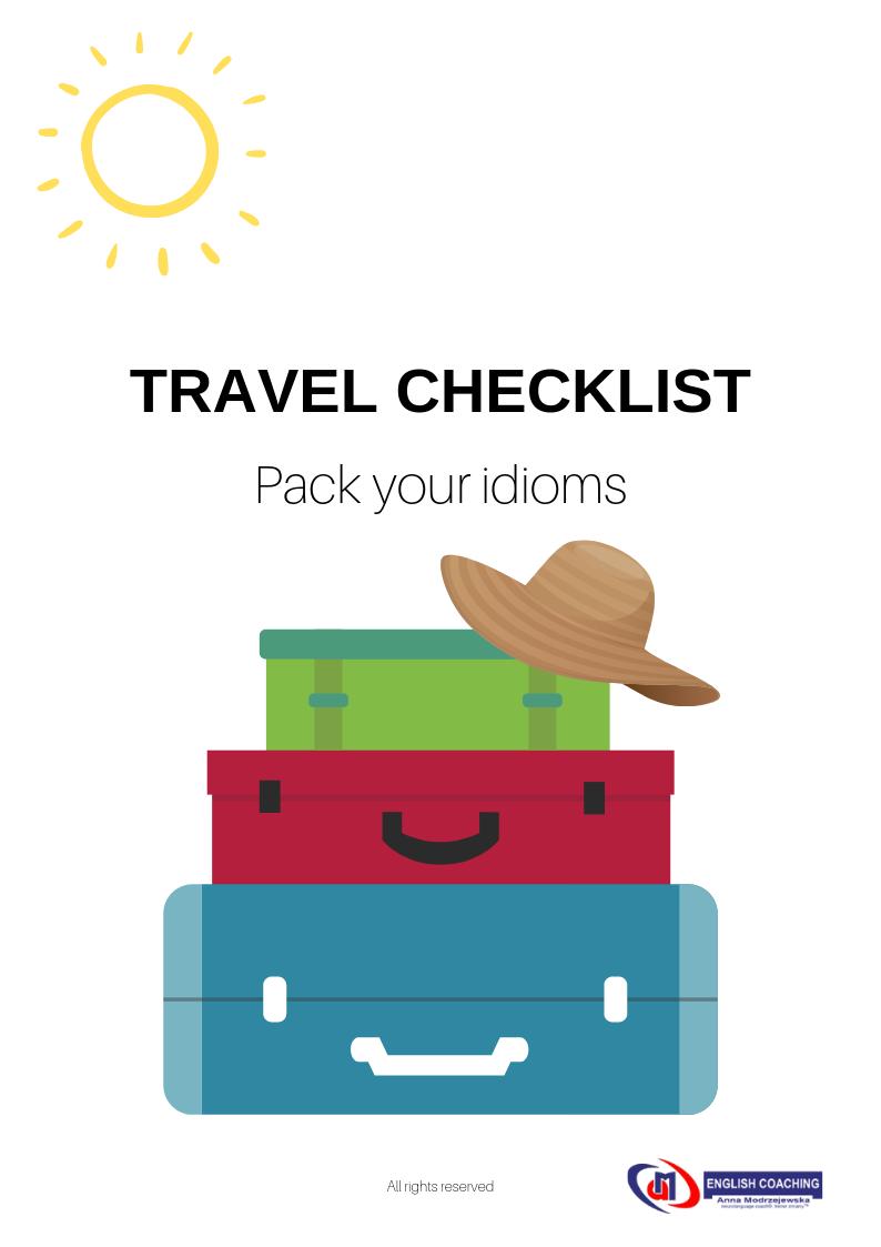 travel checklist idiom bezpłatny ebook nauka angielskiego