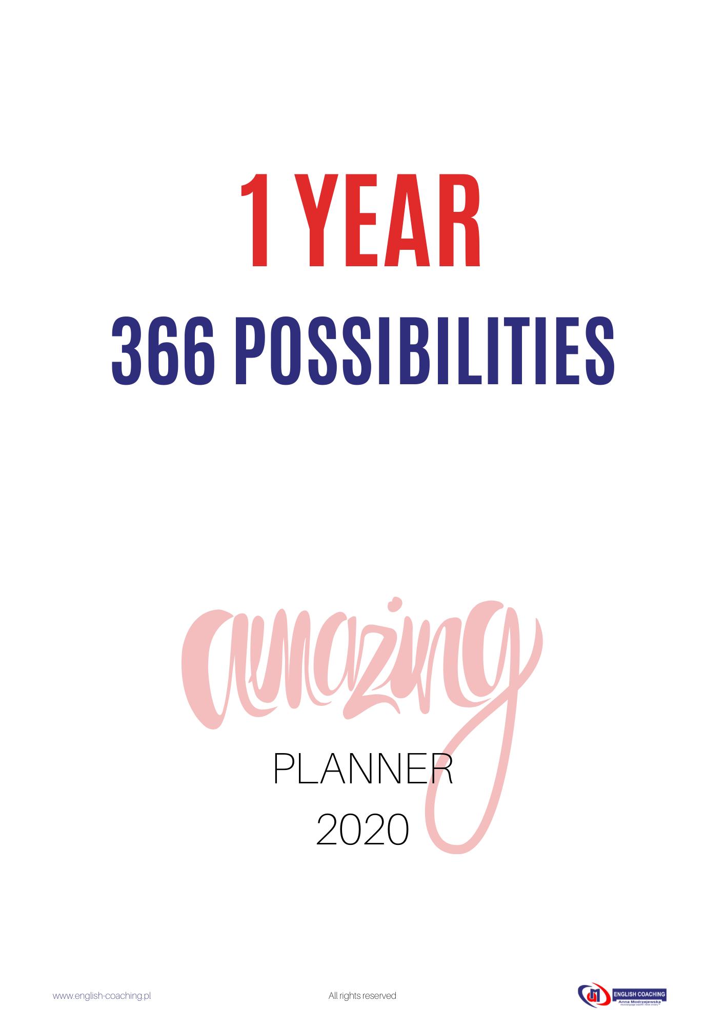 bezpłatny planner na 2020